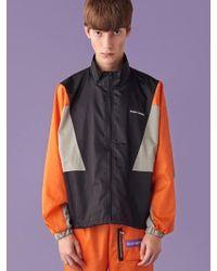 SLEAZY CORNER - [unisex] Multi Track Jacket Orange - Lyst