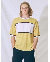 MIGNONNEUF - Block Knit T-shirt Yellow - Lyst