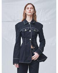 Fleamadonna Stitch Pocket Jacket - Blue