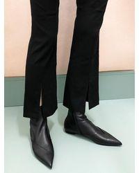 IGINOA Pt Flat Slim Ankle Boots 1 M-ig-190994 - Black