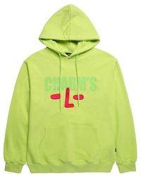 Charm's Size Logo Hoodie Yellow Green