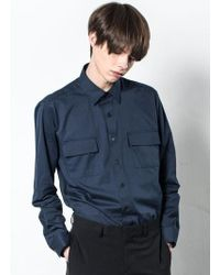 W Concept - Two Pocket Shirts Navy - Lyst