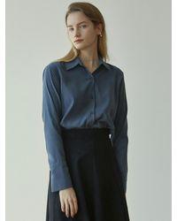 YAN13 Suede Shirt - Blue