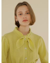 among A Scarf Belt Knit Dress - Green