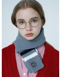 WAIKEI Yk Knit Muffler - Gray