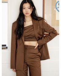 Yull Signature Diagonal Single Blazer (brown)