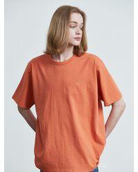 VOIEBIT 16color Premium Cotton T-shirt - Orange