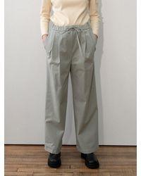 Amomento Drawstring Wide Leg Trousers - Grey
