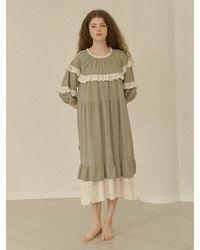 ULLALA PAJAMAS Melanie Long Sleeve Dress - Multicolour