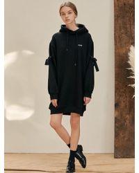 W Concept - B Eyelet Hood Dress Bk - Lyst