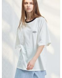 W Concept - D Anedit Tshirts Wh - Lyst