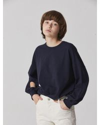 Bouton - Hole Sleeve T-shirts - Navy - Lyst