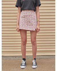 YAN13 Iris A-line Mini Skirt - Pink