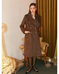 Salon de Yohn Basic Wool Coat - Brown
