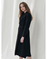 a.t.corner - Black Taylor Long Coat Amco7dz11bk - Lyst