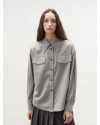 AVA MOLLI Double Stitch Wool Sh () - Gray