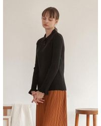 TARGETTO - Ruffle Knit Pique Black - Lyst