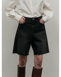 Amomento Denim Shorts - Black