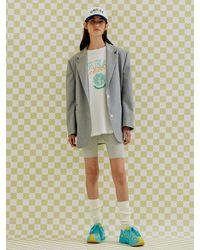a.t.corner Premium Wool Oversize Jacket (light Grey)