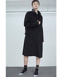W Concept - T-signature Coat - Black - Lyst