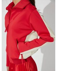 Aheit - Color Block Jumper Red - Lyst