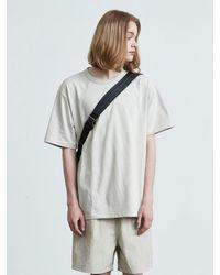 VOIEBIT 16color Premium Cotton T-shirt - Natural