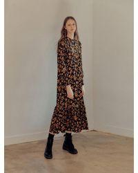 HIDDEN FOREST MARKET Liebe Floral Vintage Dress - Black