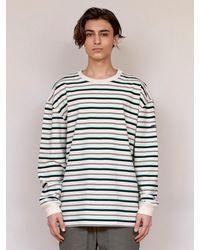 URBANDTYPE Black Label Stripe Tee Shirt - Green