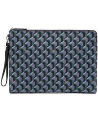 ROSA.K Monogram Clutch Bag L Green