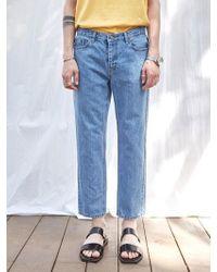 YAN13 - Blue Washing Straight Denim Pants_denim - Lyst