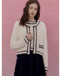 among A Feather Line Knit Set - White