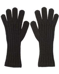 MADGOAT - Textured Cashmere Glove_ Black - Lyst