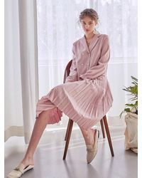 YAN13 - Pleats Double Dress - Lyst