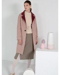 Petite Studio Elsa Wool Coat - Pink