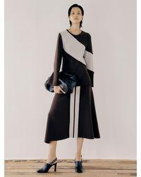 J.CHUNG Border Skirt - Brown