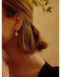 FLOWOOM Turban Shell Earrings - Metallic