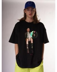 W Concept - Super Mind Control T-shirt Black - Lyst