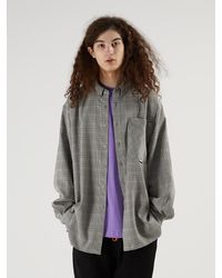 Heich Blade Tailored Hound Tooth Check Long Shirts - Natural