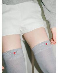 CLUT STUDIO 1 1 Heart Logo Over Knee Socks - Orange