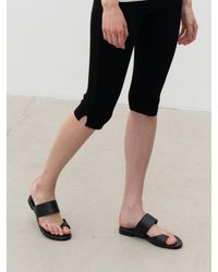 MARONY CROSHET 026 Cut Out Flat Sandal (2 Color) - White