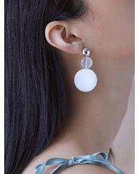 Matias - White Shell Earring - Lyst