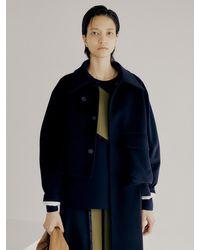J.CHUNG Asymmetric Coat - Blue