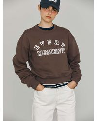 h:ours Every Moment Cotton Sweatshirt () - Brown