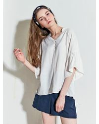 LIUNICK - Airy Button Blouse Ivory - Lyst