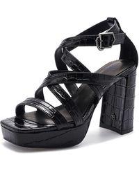 Suecomma Bonnie Strap Platform Sandal (black)