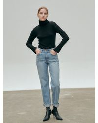 NILBY P High Rise Straight Leg Jeans - Blue