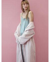 W Concept - Fur Warmer Robe - Powder Pink - Lyst