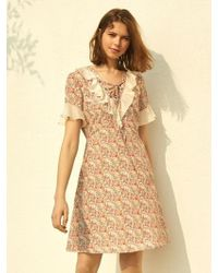 W Concept - Peony Flower Dress 2color - Lyst