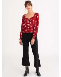 Petite Studio Marjory Top - Floral Print - Red