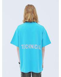 APPARELXIT Unisex Technical T-shrits - Blue
